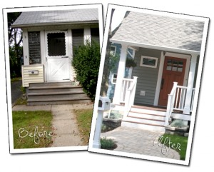 Curb Appeal Before and After Pic