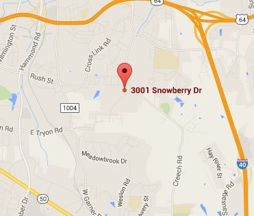 3001 Snowberry Dr. Raleigh, NC 27510 Map