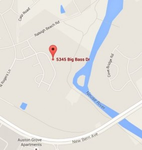 5345 Big Bass Dr. Raleigh Map