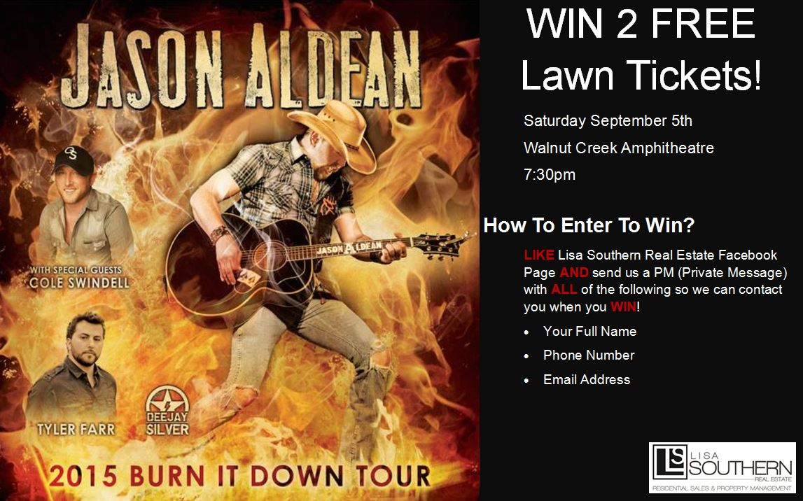 Enter to Win Jason Aldean Tickets